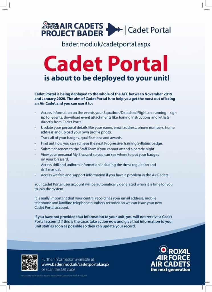 Cadet Portal Poster